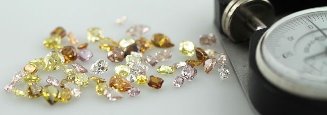 Mixed parcel of Colored Diamonds
