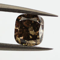 Fancy Dark Brown Diamond, Cushion, 1.01 carat, SI2