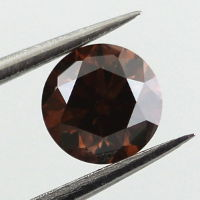 Fancy Dark Orangy Brown Diamond, Round, 0.50 carat