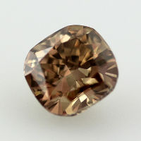 Fancy Dark Yellowish Brown Diamond, Cushion, 1.02 carat, VS1