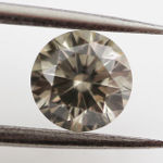 Fancy Gray Diamond, Round, 0.52 carat, SI1