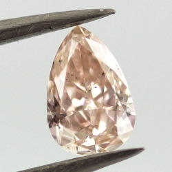 Fancy Pink Brown Diamond, Pear, 0.46 carat