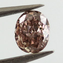 Fancy Pink Brown Diamond, Oval, 0.42 carat, SI1