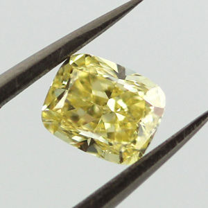 Fancy Yellow, 0.67 carat, SI1