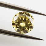 Fancy Yellow Diamond, Round, 0.50 carat, SI1