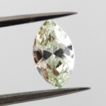 Fancy Yellow green Diamond, Marquise, 0.70 carat, SI1