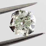 Fancy Yellowish Green Diamond, Radiant, 0.58 carat, VS2