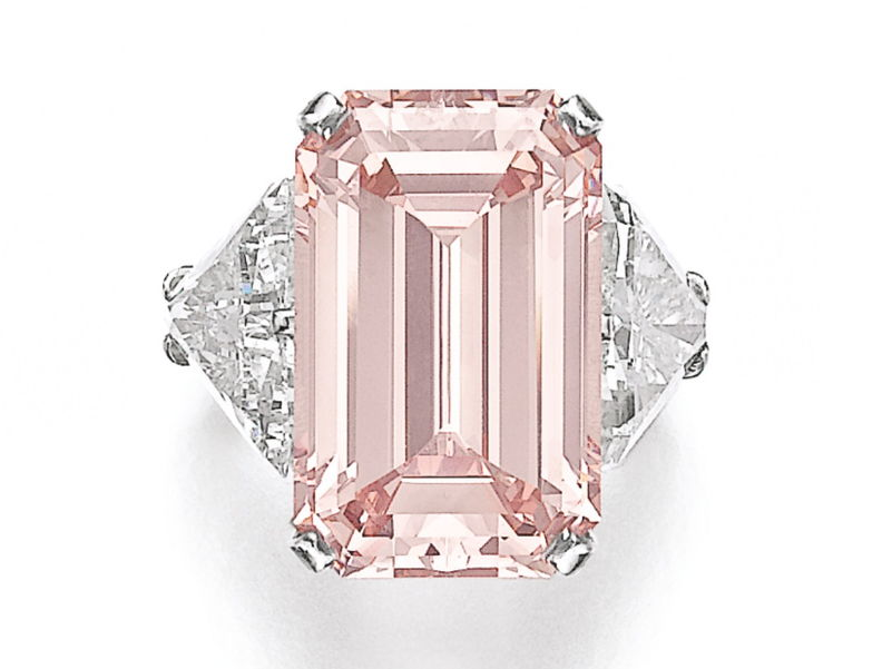 17.07 carat fancy intense pink diamond