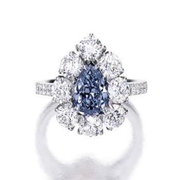 1.80ct Deep Blue Diamond Ring