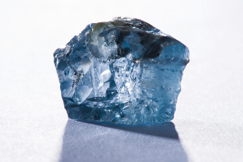 29.6 carat Rough Blue Diamond by Petra