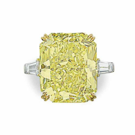 30ct vivid yellow diamond ring