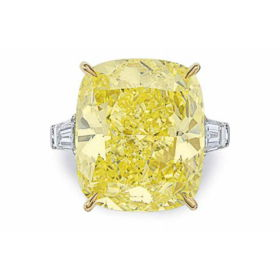 39.12ct intense yellow diamond ring