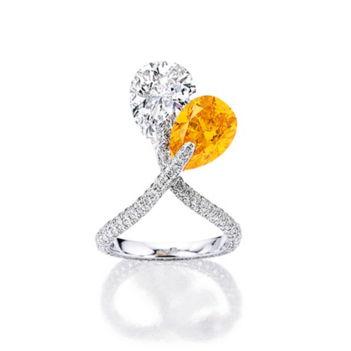 4.08ct Vivid Orange Diamond Ring