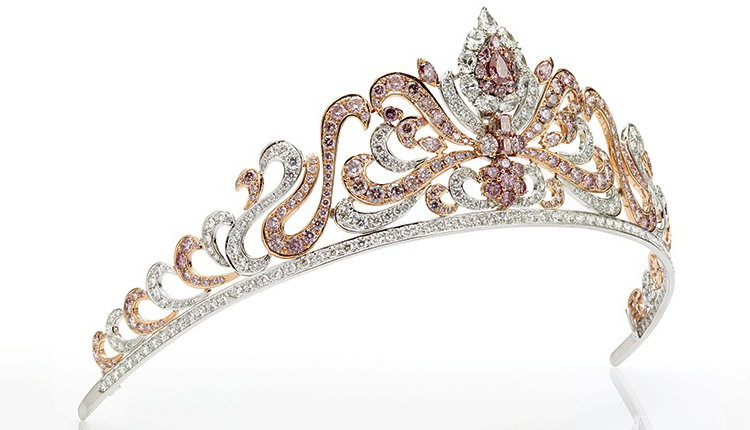 Argyle Pink Diamond Tiara 178 Pink Diamonds 20 Carats
