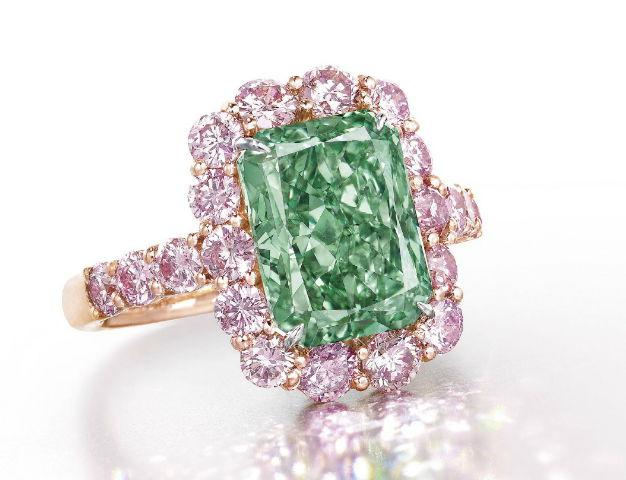 Aurora Green Diamond Ring