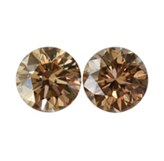 Matching Pair of Brown Diamonds