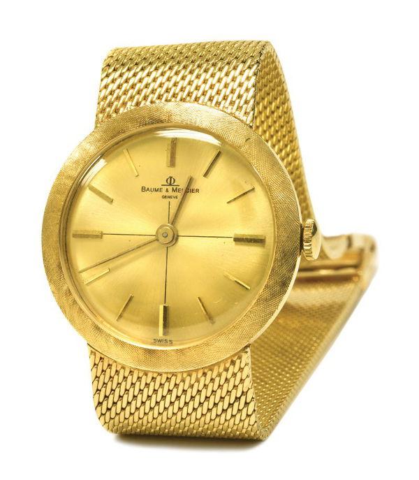 Elvis Presley Gold Baume & Mercier bracelet watch
