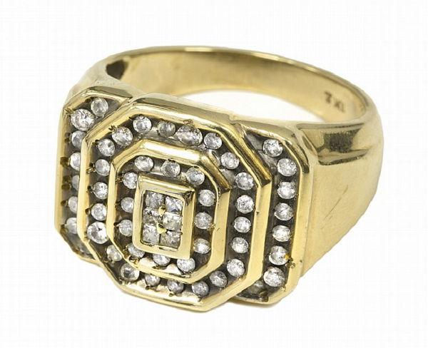 Elvis Presleys 10K Gold Ring with 56 Diamonds
