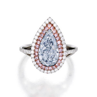 Fancy Light Blue Diamond Ring 3.55 carat