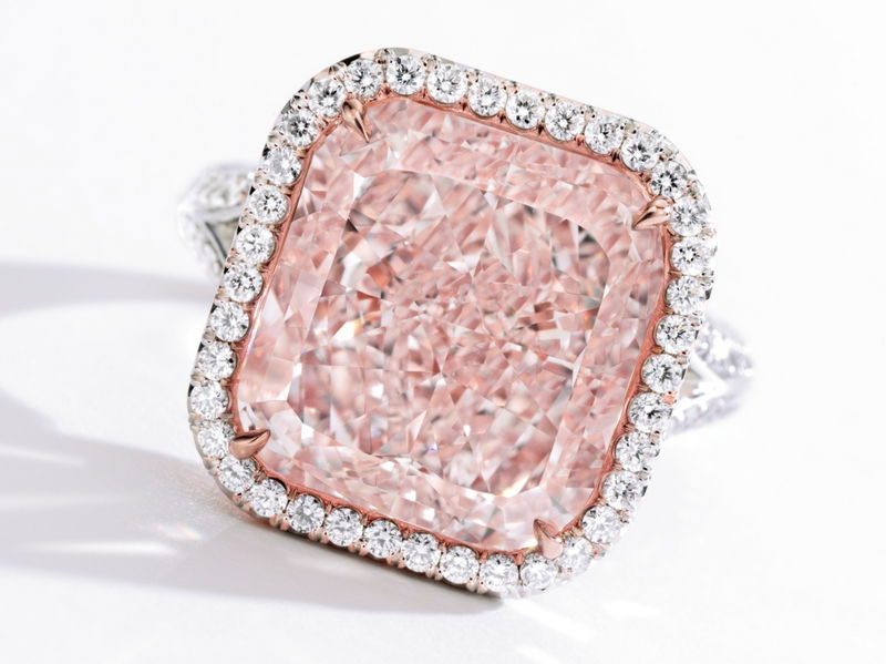 Flawless Fancy Light Pink Diamond Ring 11.41ct by Sothebys