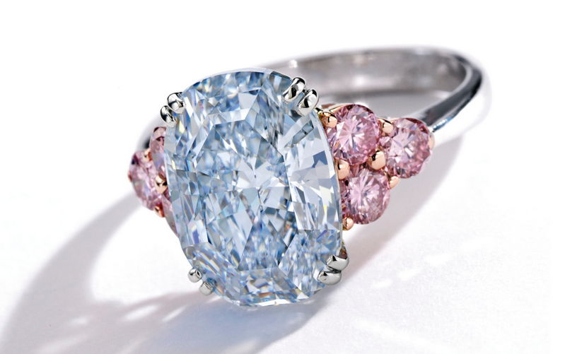 Natural Blue Diamond Ring
