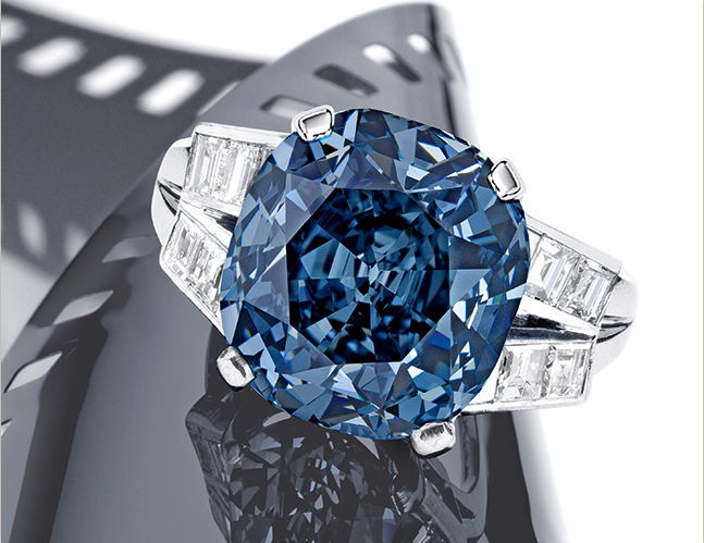 35 Million For Shirley Temple S Blue Diamond Ring