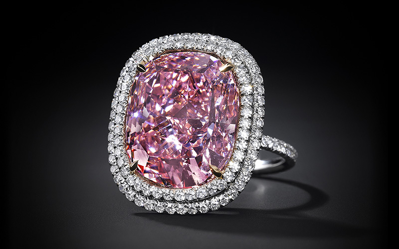 Vivid Pink Diamond 16.08 carat - Christie's