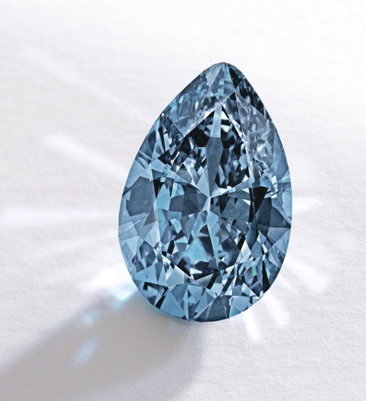 The Zoe Diamond 9.75 carat vivid blue diamond - most expensive diamond ever