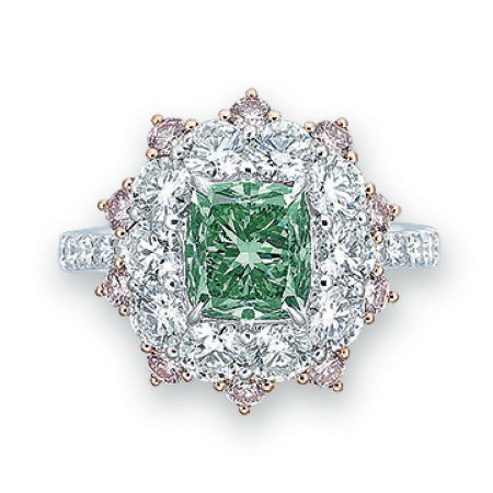 Vivid Bluish Green Diamond 2.08 carat