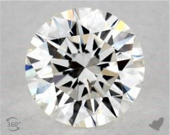 1 Carat Round Diamond, G Color VS2 Clarity