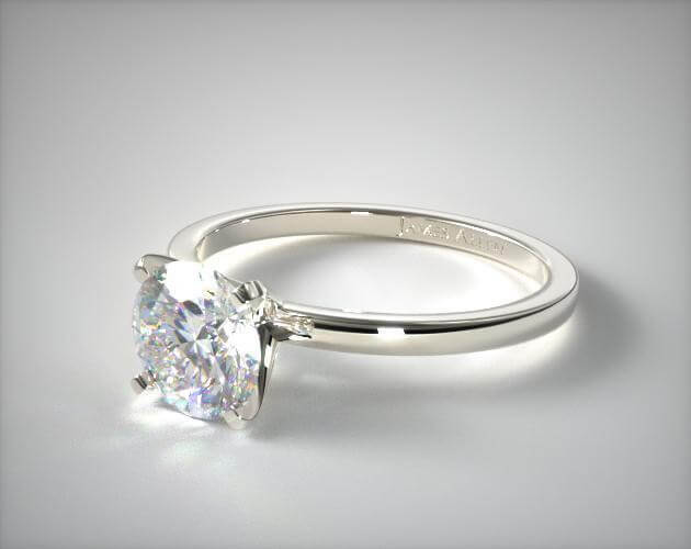 18K WHITE GOLD 1.5MM COMFORT FIT ENGAGEMENT RING