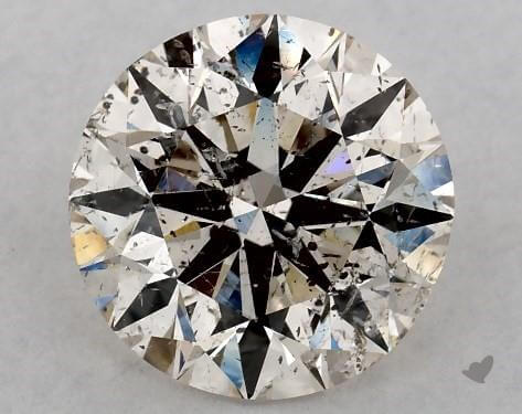 Round 2 carat diamond, K SI2 worth $5,830