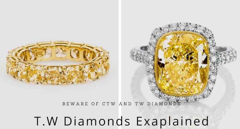 7 carat yellow diamond vs 7 carats TW diamonds