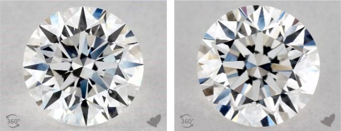 D Diamond Color VS E Color Diamond