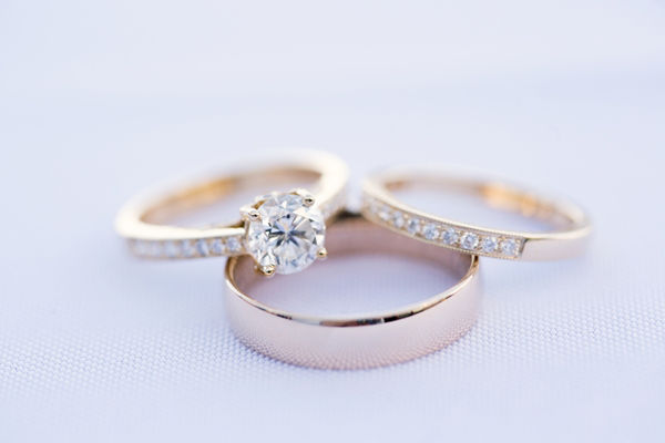 Engagement Ring vs Wedding Ring and Wedding Band