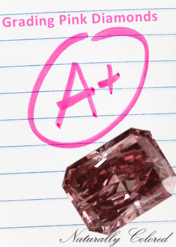 Grading pink diamonds
