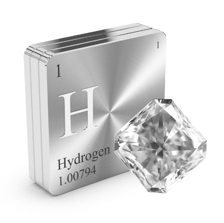 Hydrogen Creates Gray Diamonds