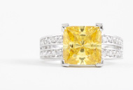 Canary Yellow Diamond Ring