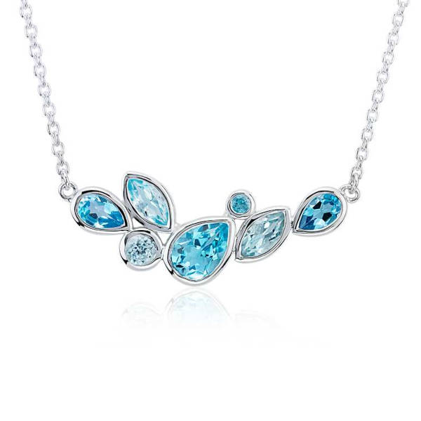 Mixed Shape Blue Topaz Necklace