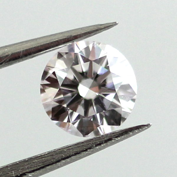 Faint Pink Diamond, Round, 0.30 carat, SI1