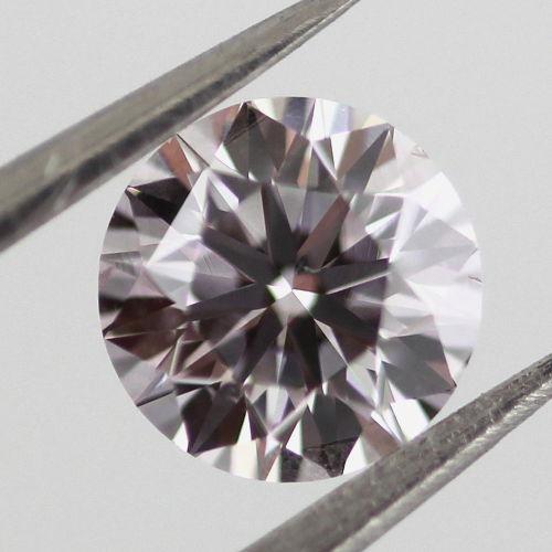 Faint Pink Diamond, Round, 0.50 carat, VS2