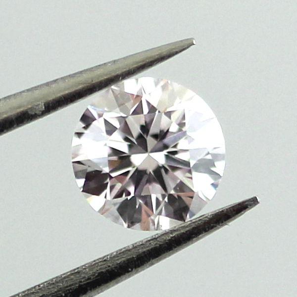 Faint Pink Diamond, Round, 0.28 carat, VS2 - B