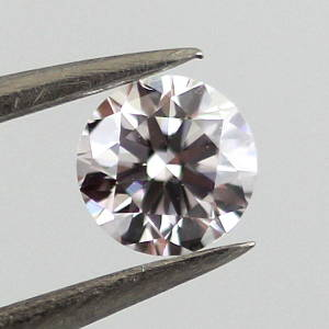 Faint Pinkish Brown, 0.30 carat, VS2