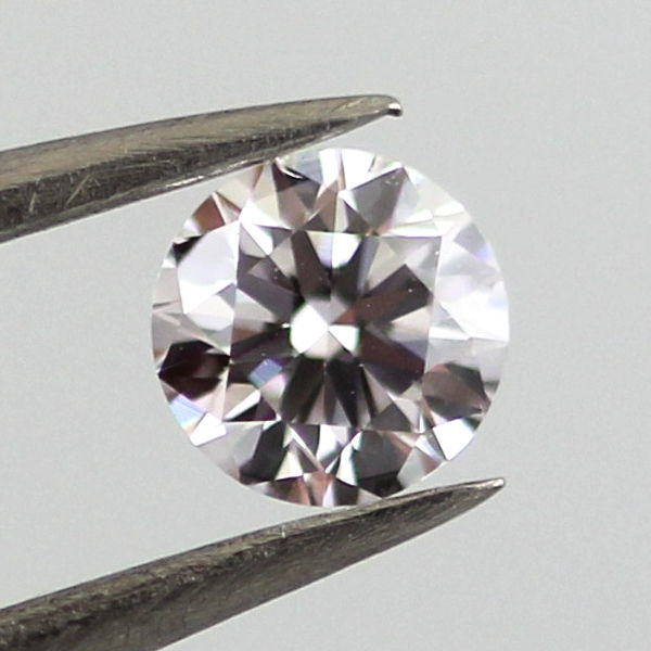 Faint Pinkish Brown Diamond, Round, 0.30 carat, VS2