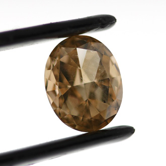 Fancy Brown Orange Diamond, Oval, 1.02 carat, SI1 - B