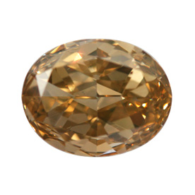 Fancy Brown Orange Diamond, Oval, 1.02 carat, SI1