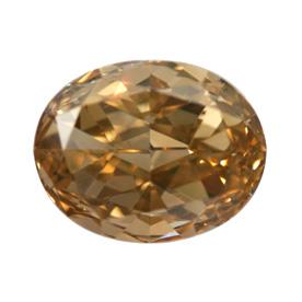 Fancy Brown Orange Diamond, Oval, 1.02 carat, SI1
