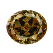 Fancy Brown Orange Diamond, Oval, 1.09 carat, VS1