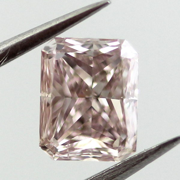 Fancy Brown Pink Diamond, Radiant, 0.52 carat, SI1