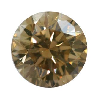 Fancy Brown Yellow Diamond, Round, 0.50 carat, VS2